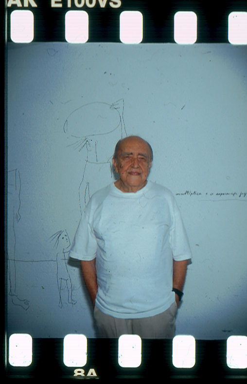 Oscar Niemeyer in his Rio studio