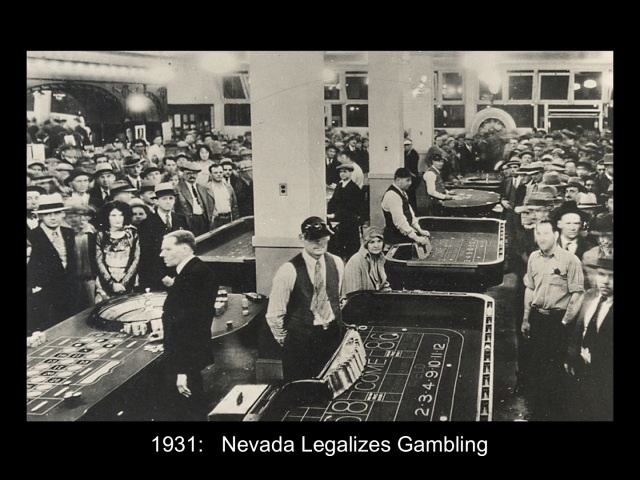 What year was gambling legalized in las vegas