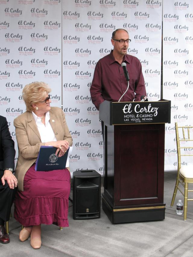 Plaque Ceremony in Front of El Cortez Hotel