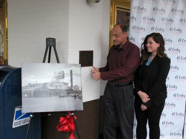 Unveiling the new plaque