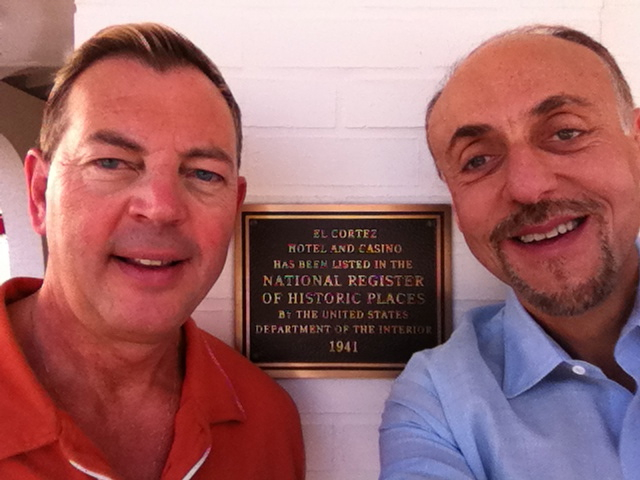 Pete and Lauren with El Cortez plaque