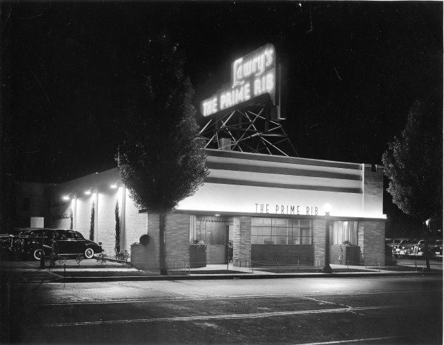 Lawry's Original Location on La Cienega Blvd.